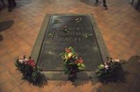 Ved Bachs grav, Thomaskirche, Leipzig